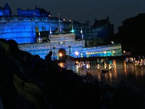 Enchanted Edinburgh Castle at night