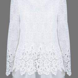 The Lacy White Christmas Blouse